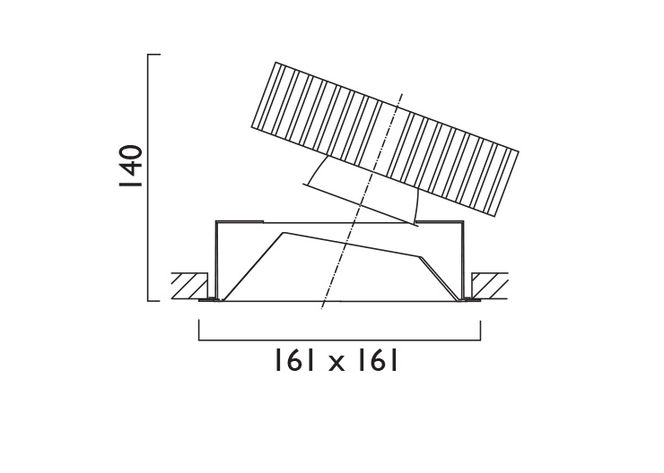 Square X161 Directional Line Drawing